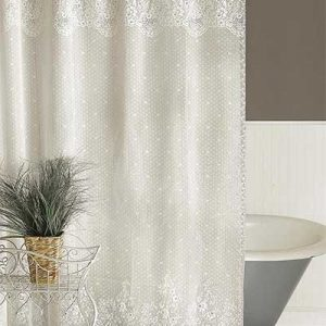 Captivating Lace Shower Curtain U2013 Floret U2013 Heritage