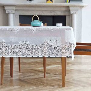 Cotton Lace Tablecloth - Elgin