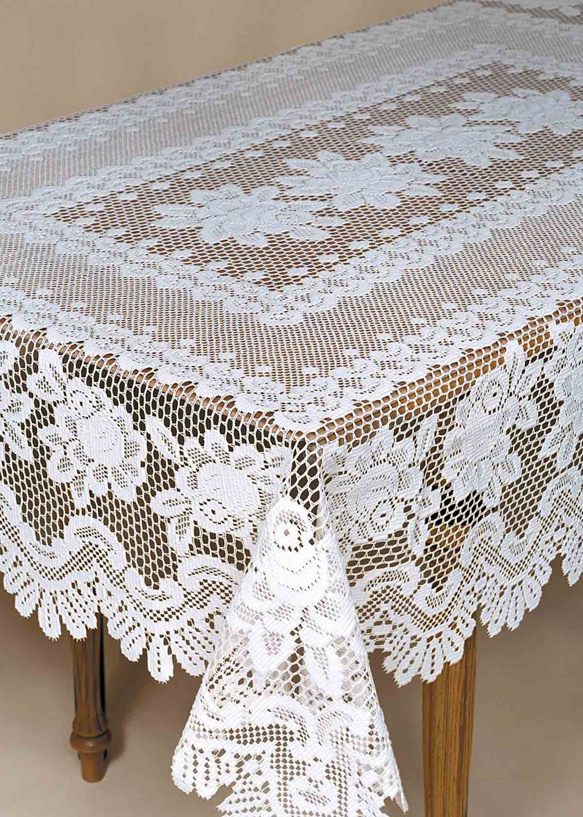 Lace Tablecloths Rose Heritage Lace Made In The U S A