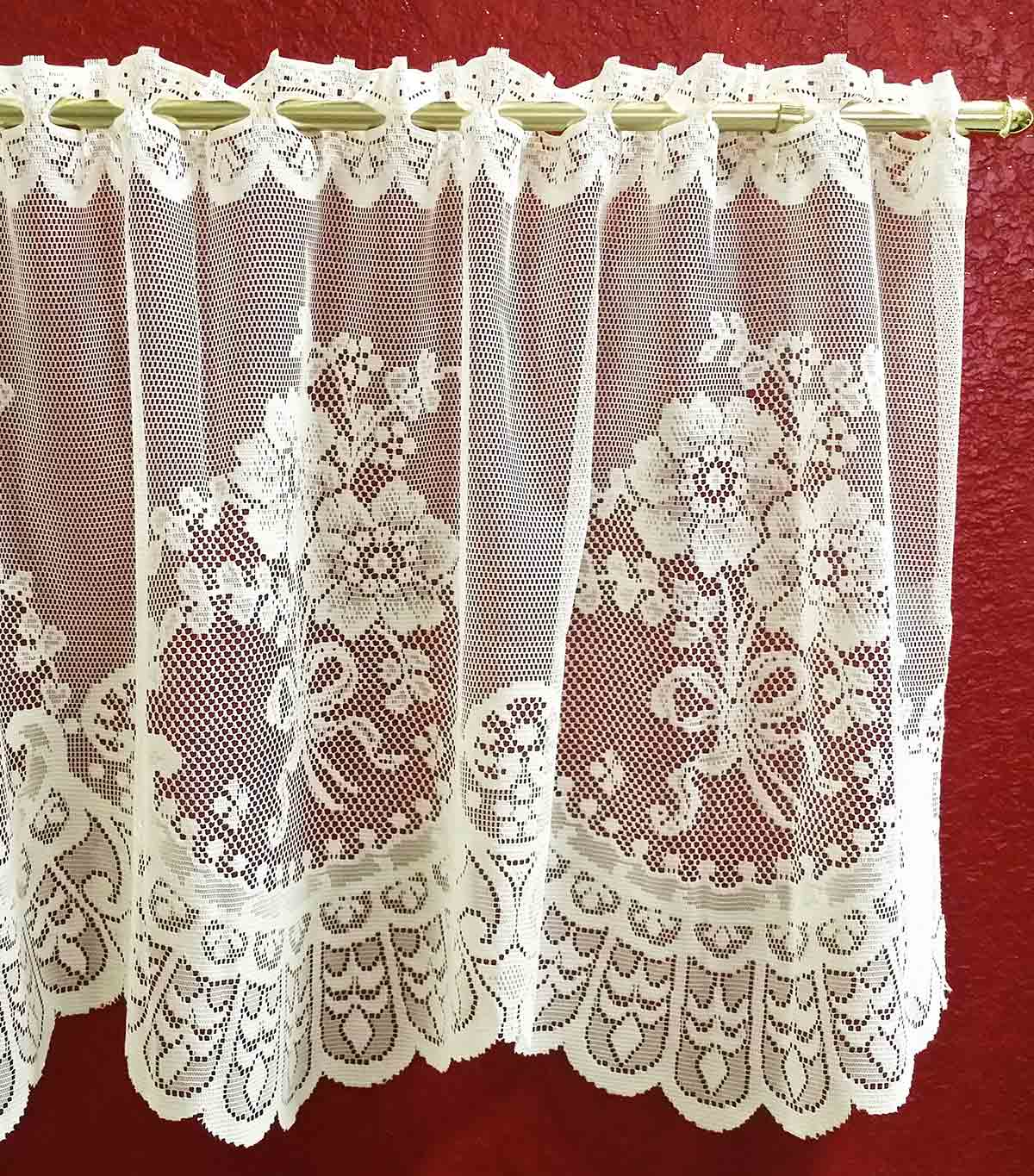 Lace Valances And Lace Tiers Imported From Europe
