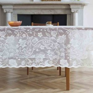 Flora Cotton Lace Tablecloth
