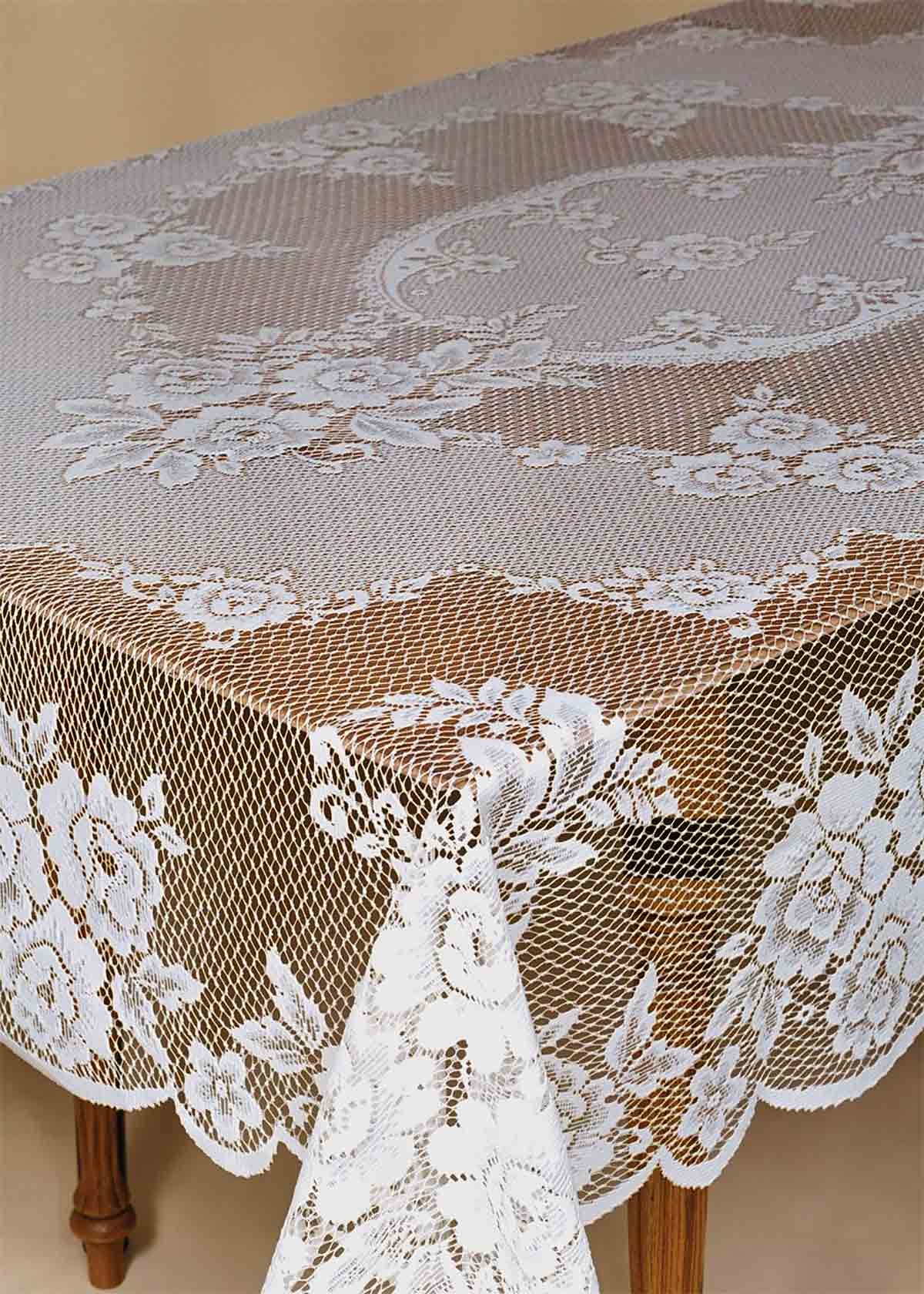Marvelous Victorian Rose Tablecloth