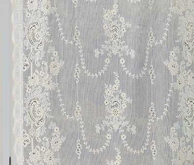 Iona Cotton Lace Curtain Detail
