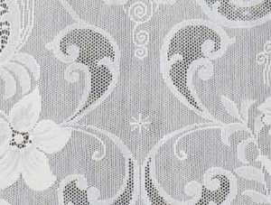 Islay Lace Curtain Close Up Design