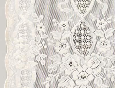 Lindsay Cotton Lace Curtain Close Up Design
