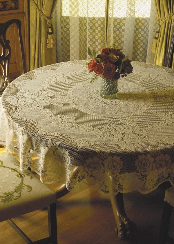 Victorian Rose Round Tablecloth Design