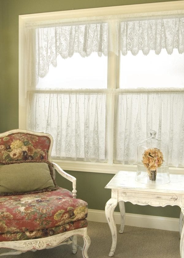 Floret Lace Valance, Swag Pair and Tirrs