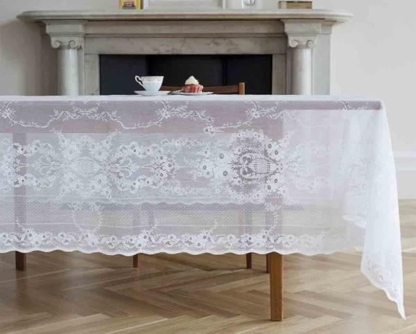 Lydia Cotton Lace Tablecloths