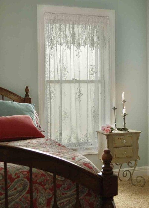 Tea Rose Lace Curtain Design