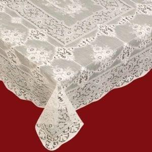 Leven Cotton Lace Tablecloth Design Detail