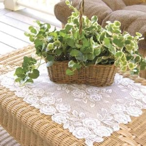 Lace Placemat - Tea Rose
