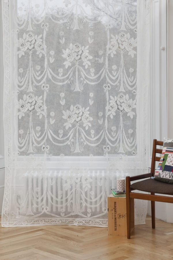 Cotton Lace Curtains - Secret Garden