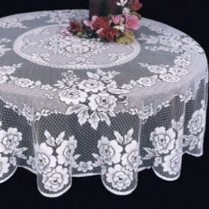 Rose Polyester Tablecloths Design