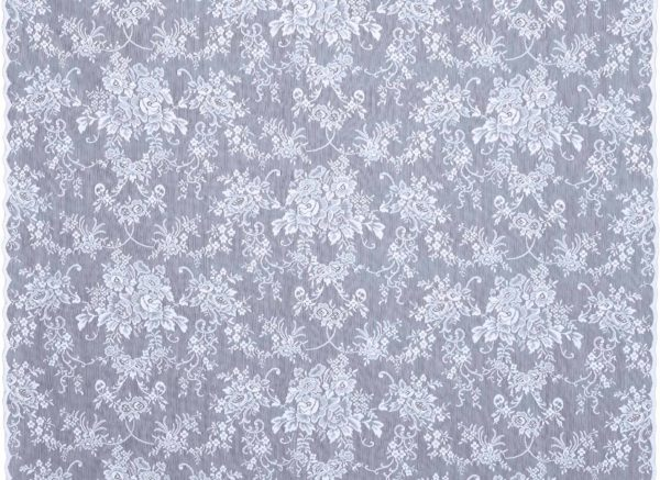 Rose Garland Lace Curtains Design