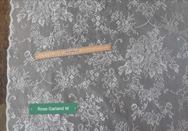 Rose Garden Lace Curtain Closeup Design