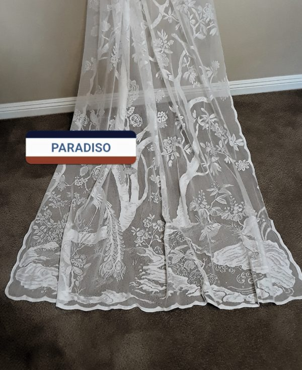 Paradiso scenic Lace Curtain Panel