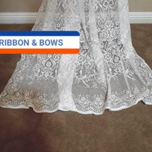 Ribbons and Bows draping softly