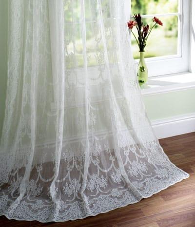 Tassel Rose Madras Lace Curtains Design