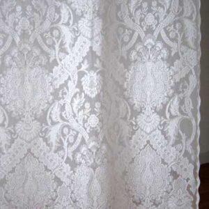 Jodie Madras Lace Curtain Corner detail