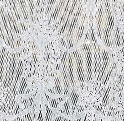 Alexandra Cotton Nottingham Lace Curtain Design