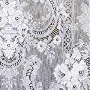 St Andrews Cotton Lace Curtain Closeup Design