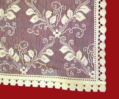 Trellis cotton lace curtain